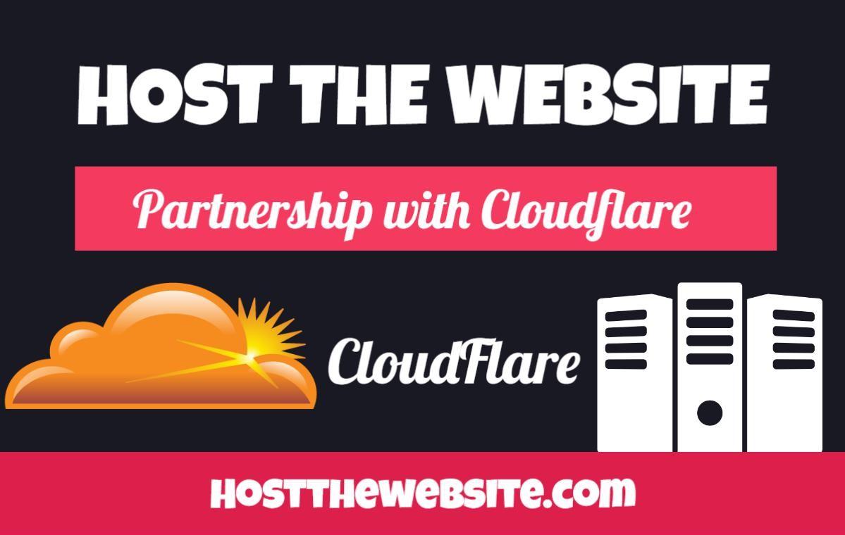 Clouflare partnership Hostthewebsite